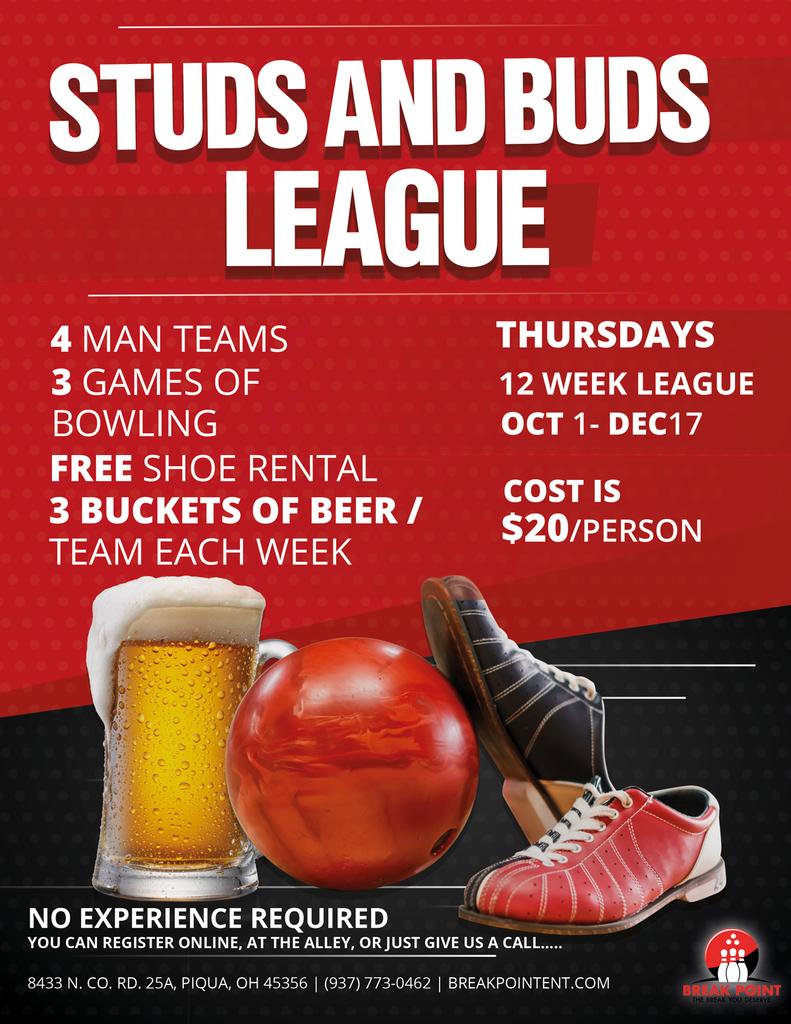Studs & Buds League